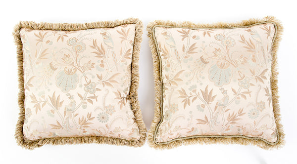 Pair of Gold Stroheim & Romann Custom Pillows