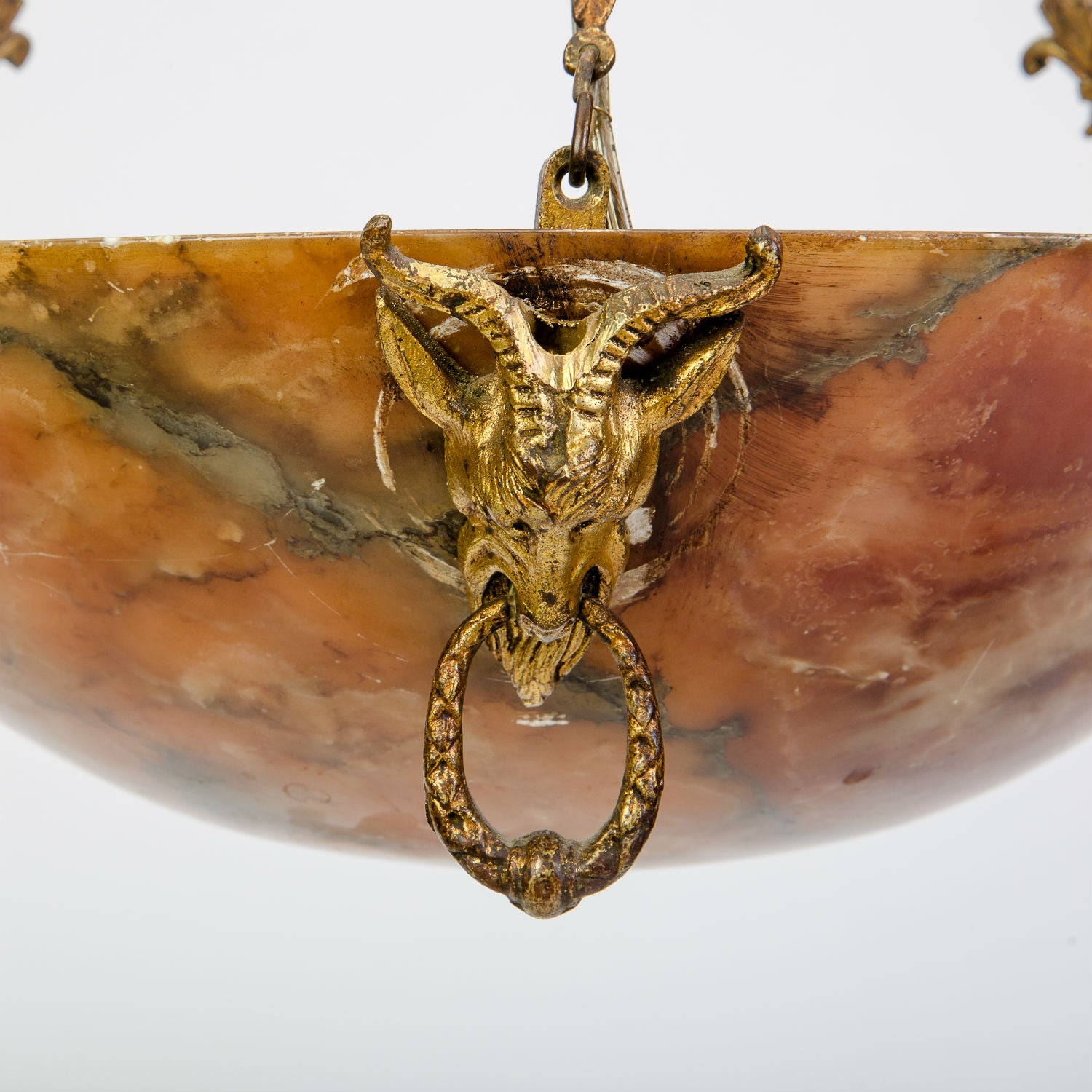 Amber Alabaster Light Fixture