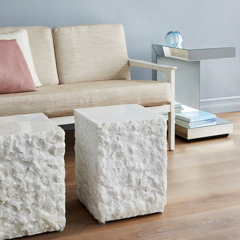 CALCUTTA SIDE TABLE, WHITE