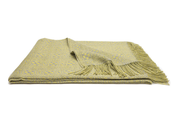 Chartreuse Alpaca Throw Blanket