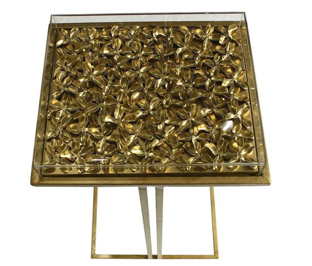 Gilded Clover Cocktail Table