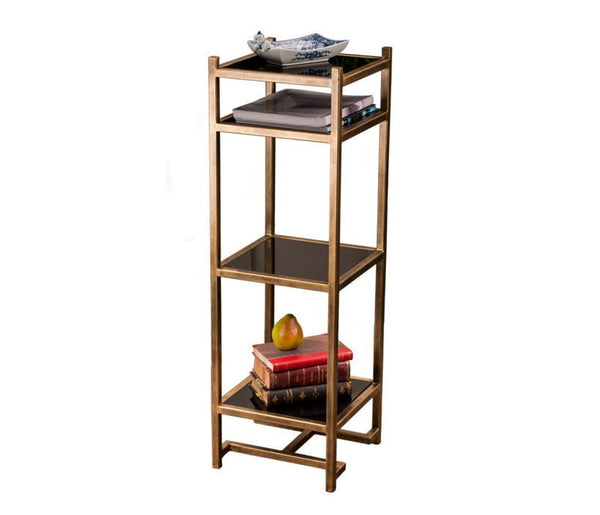 Etagere in Antique Gold Finish