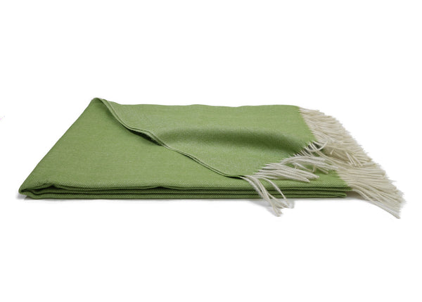 Green Alpaca Throw Blanket