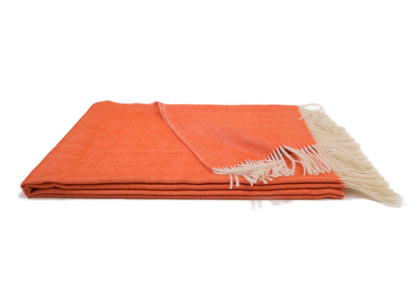 Bright Orange Alpaca Throw