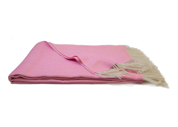 Pink Alpaca Throw Blanket