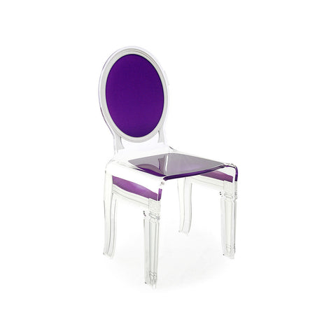 Purple Acrylic Louis XVI Style Chair