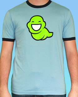 John Egbert Green Slime Ghost Ringer Tee (Men's and Women's)
