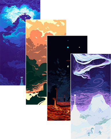 """Lands"" - Full Set of 4 Art Prints"