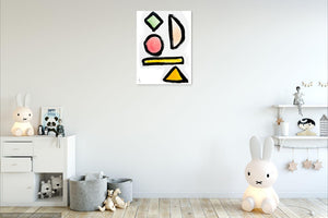 Colored Shapes Art