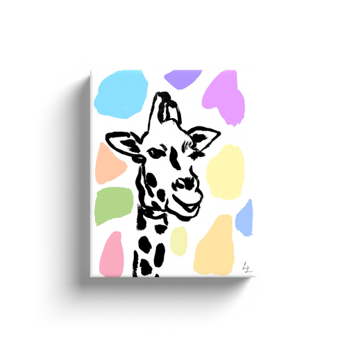 Colorful Giraffe Art