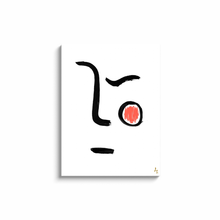 Face and Red Spot Art