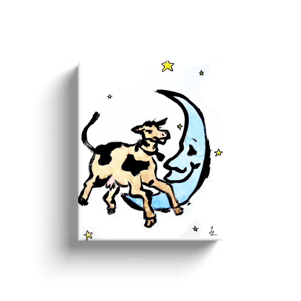 Cow Jumps Over the Moon Art