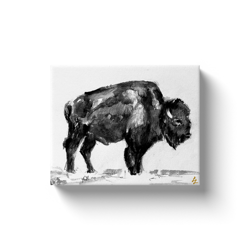 Black and Strong Buffalo Art