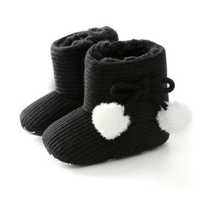 Elliott Fuzzy Ball Winter Boots