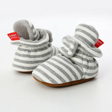 Striped Baby Booties