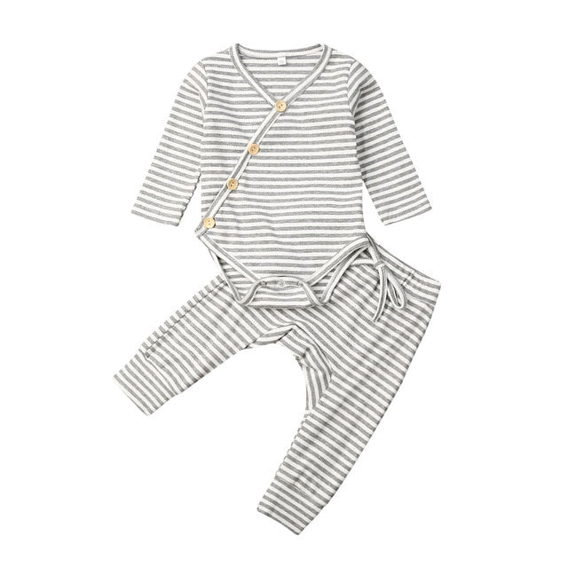 Kameron Striped Baby Outfit