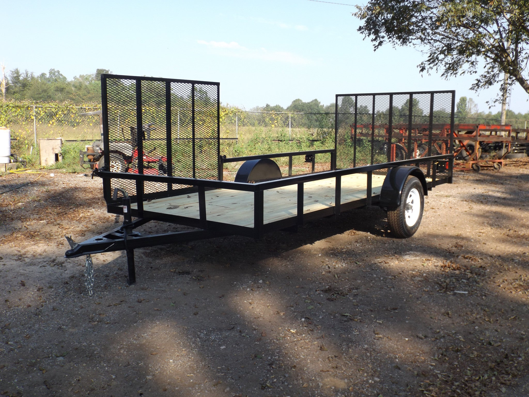 Single Axle Utility Trailer Mobile Alabama Bye Rite Light Wiring On Lights Uses Heavy Duty Landscaping Car Trailers Robertsdale Baldwin County
