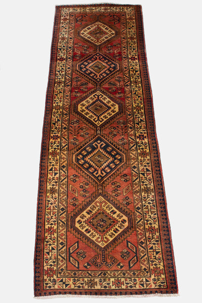 Vintage Hand Knotted Sarab Persian Rug
