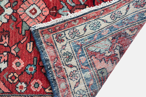 Vintage Hand Knotted Hamadan Persian Rug