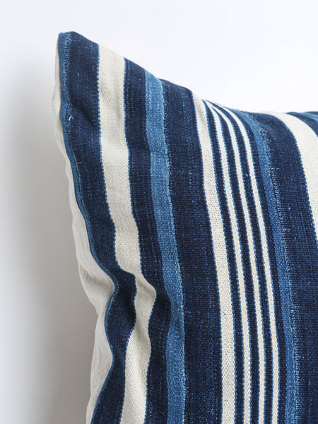 Authentic Indigo African Mud Cloth Textile Pillow Cover