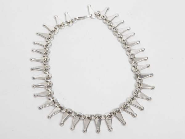 Handmade Sterling Silver Necklace by Johnathan Nez