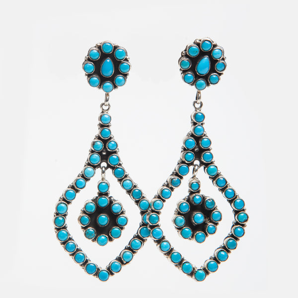 Handmade Turquoise Earrings by Eleanor Largo