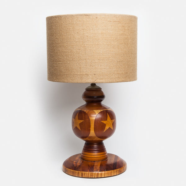 Handmade Americana Inlay Lamp