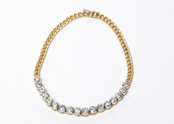 Diamond and Gold Chain Bracelet