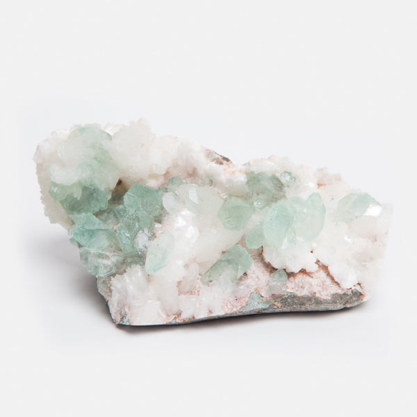 Apophyllite with Stilbite Crystal
