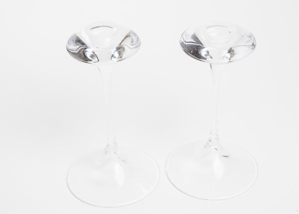 Kosta Boda Fanfare Crystal Candle Holders