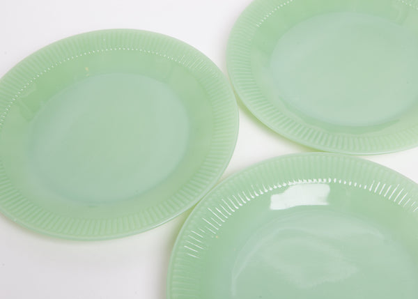 Set of Eight Fire King Jadeite Dinner Plates
