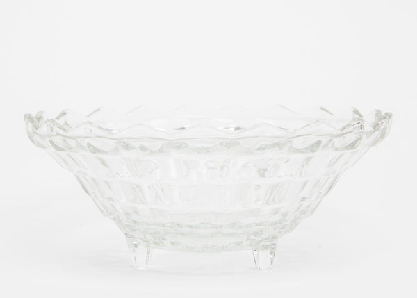 "American Clear Fostoria Large 10"" Round Footed Serving Bowl"