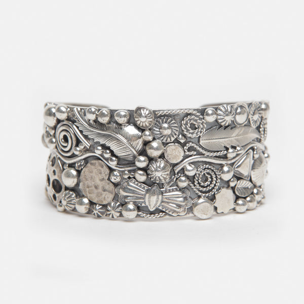 "Handmade Sterling Silver ""Charm"" Bracelet by Philbert Secatero - On Sale!"