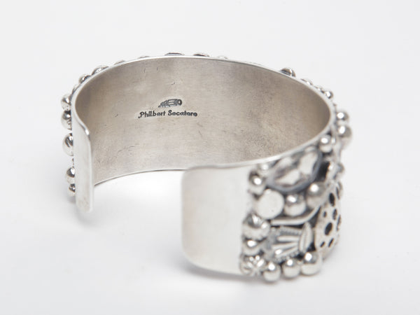"Handmade Sterling Silver ""Charm"" Bracelet by Philbert Secatero"
