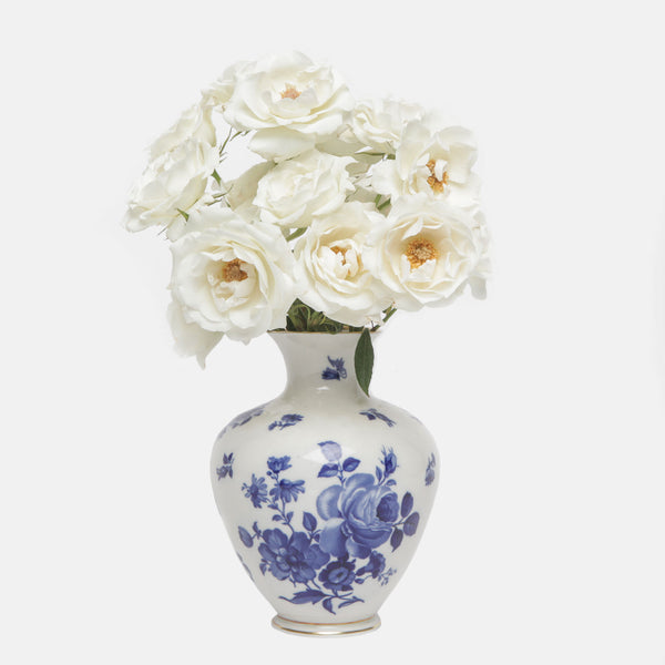 Royal Porzellan Bavaria Blue Rose Vase
