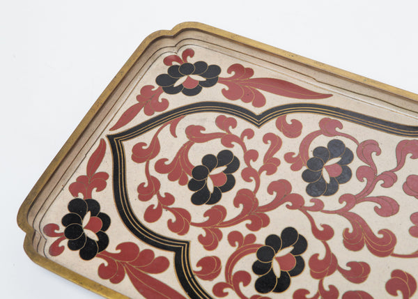 Bronze Chinese Cloisonne Tray Circa 1900