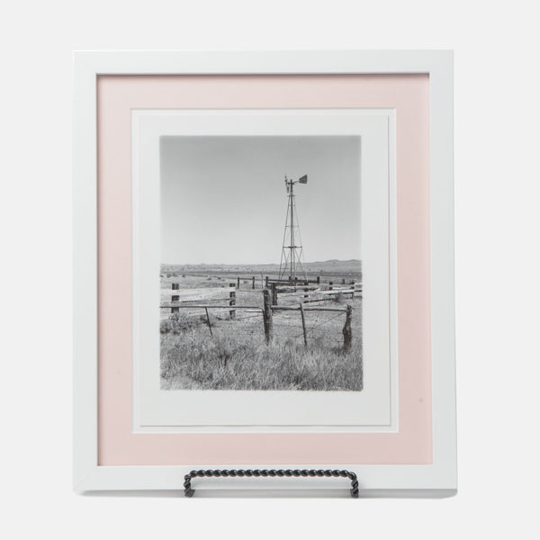 Black and White Farm Scene Framed Photograph