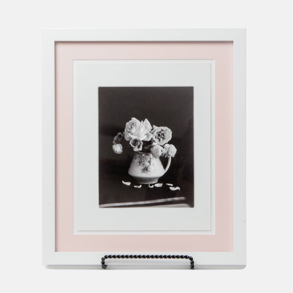 Black & White Flower Still Life Framed Photograph - On Sale!