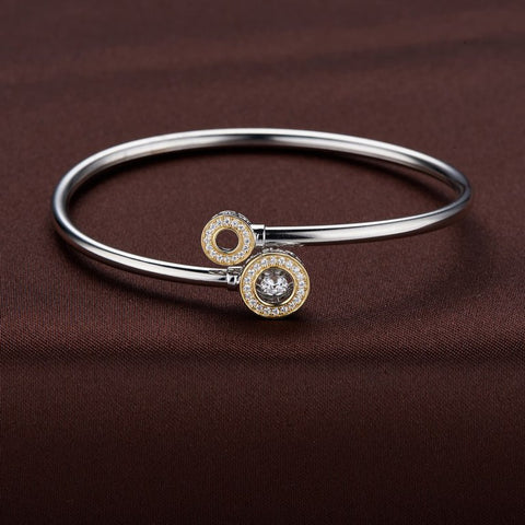 DANCING SWAROVSKI BANGLE IN STERLING SILVER