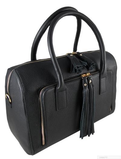 CARBOTTI BLACK LARGE TOTE BAG