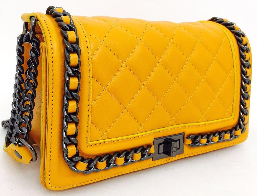 100% MADE IN ITALY QUILTED POCHETTE BAG