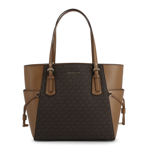 Micheal Kors Voyager Cross Grain Leather Tote Bag