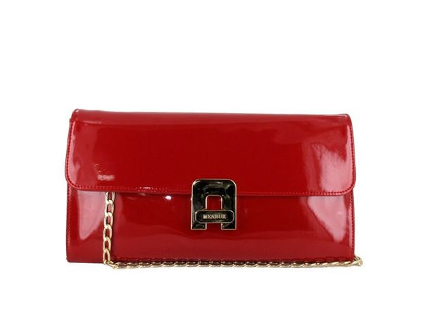 Women's Patent Red Clutch Shoulder Bag