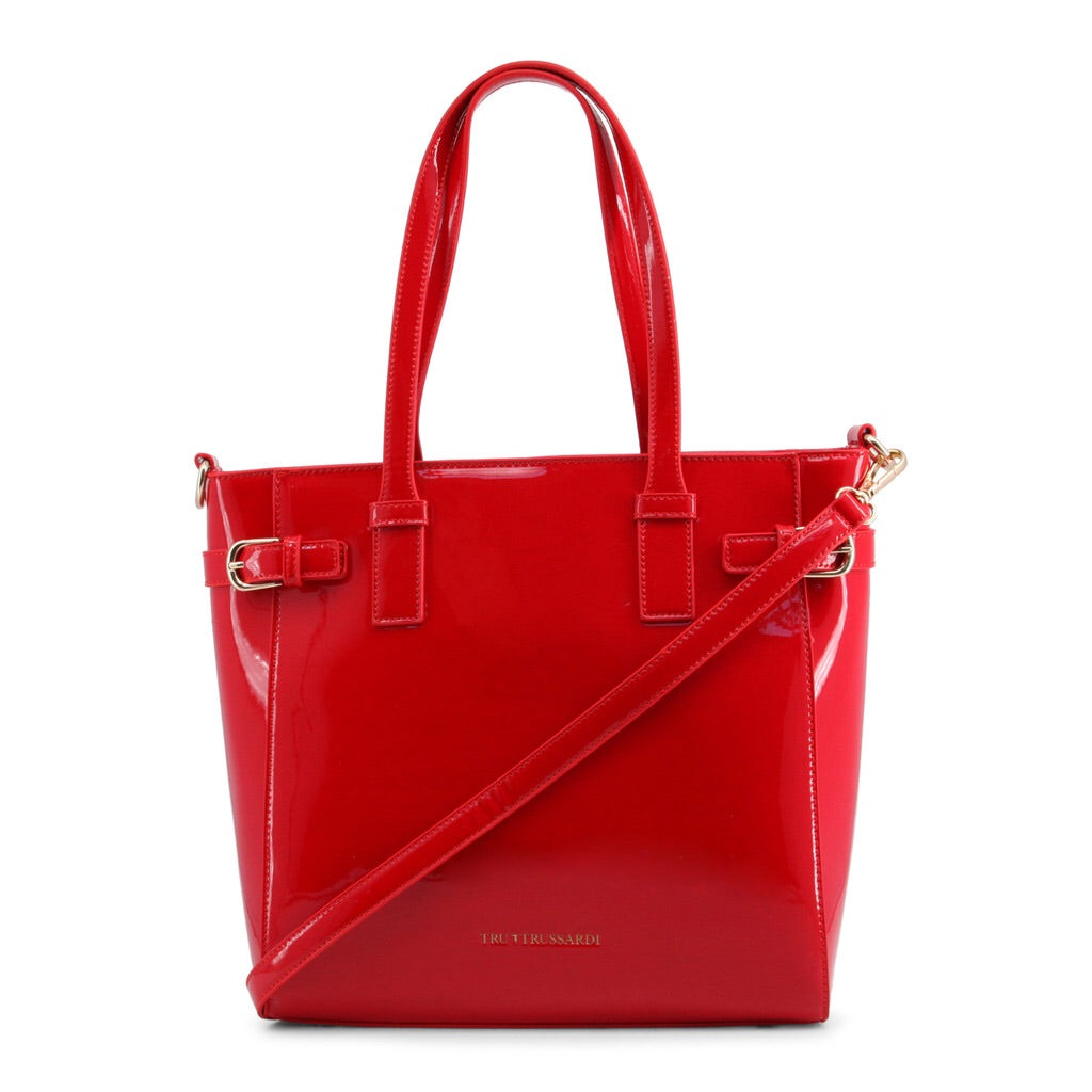 TruTrussardi Women's Patent Red Shoulder Bag