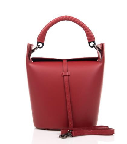 Medium Top Handle Leather Shoulder Bag Made in Italy