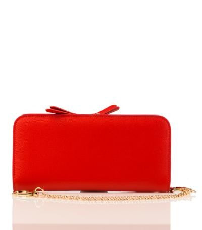 100% MADE IN ITALY RED PURSE