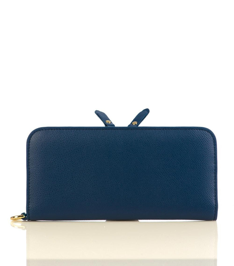 100% MADE IN ITALY BLUE PURSE