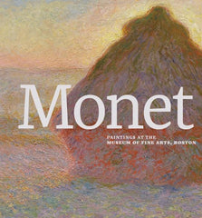 Monet paintings book cover