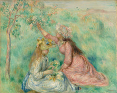 Renoir, Girls Picking Flowers in a Meadow