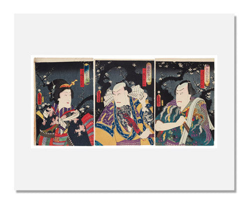 Utagawa Kunisada I, Actors from the series A Contemporary Suikoden